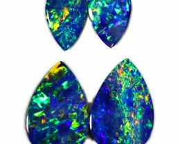 1.80 CTS GEM DOUBLET PAIR SET FOR EARRINGS [SEDA997-6]SAFE