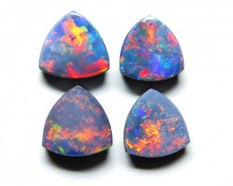 Australian Doublet Opal 4 stone  6mm Parcel Pairs