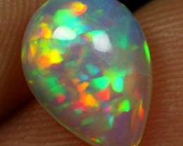 Free Shipping 1.60cts Peacock Feather Pattern Ethiopian Opal