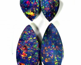 1.55 CTS GEM DOUBLET PAIR SET FOR EARRINGS [SEDA1005-6]SAFE