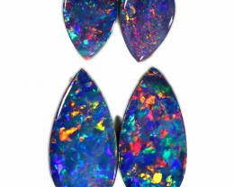 1.60 CTS GEM DOUBLET PAIR SET FOR EARRINGS [SEDA1006-6]SAFE