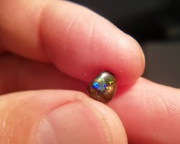 1.30 cts Natural solid boulder opal with multiple sparkling gem fire