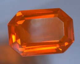 2.52ct MEXICAN FIRE FLAWLESS TRANSPARENT  FACETED OPAL