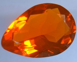 1.89ct MEXICAN FIRE FLAWLESS TRANSPARENT  FACETED OPAL