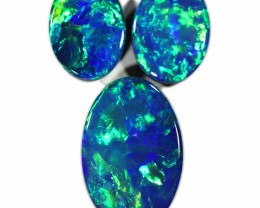 2.87 CTS GEM DOUBLET SET FOR EARRING AND PENDANT [SEDA1016-12]SAFE