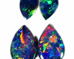 2.09 CTS GEM DOUBLET PAIR SET FOR EARRINGS [SEDA1023-12]SAFE