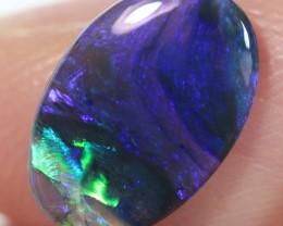 Lightning Ridge Solid Black Crystal Opal Stone 1.22ct