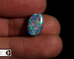 4.25 carat Super hot Mintabie doublet RED Multicolour
