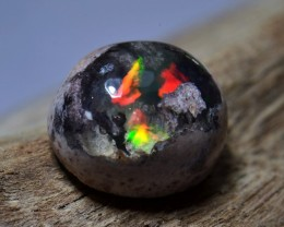 2ct Natural Mexican Matrix Cantera Multicoloured Fire Opal