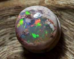 2.5cts. Natural Mexican Matrix Cantera Multicoloured Fire Opal Wirewrap rea