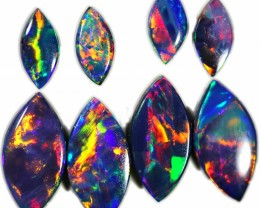 1.86 CTS GEM DOUBLET PAIRS FOR EARRINGS [SEDA1025]SAFE