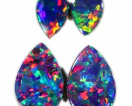 2.05 CTS GEM DOUBLET PAIRS FOR EARRINGS [SEDA1027]SAFE