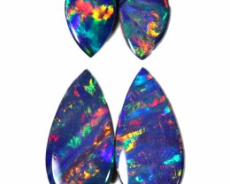 1.50 CTS GEM DOUBLET PAIRS FOR EARRINGS [SEDA1030]SAFE