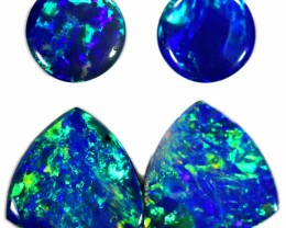 2.18 CTS GEM DOUBLET PAIRS FOR EARRINGS [SEDA1033]SAFE