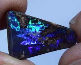 6.50 ct Gem Blue Green Natural Free Form Queensland Boulder Opal