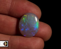 SALE 11.70 carat Allens Rise Oval opal Blue and green fire