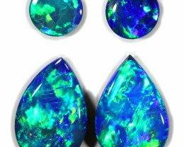 2.16 CTS GEM DOUBLET PAIRS FOR EARRINGS [SEDA1063]SAFE