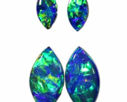1.87 CTS GEM DOUBLET PAIRS FOR EARRINGS [SEDA1074]SAFE