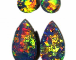 1.46 CTS GEM DOUBLET PAIRS FOR EARRINGS [SEDA1075]SAFE