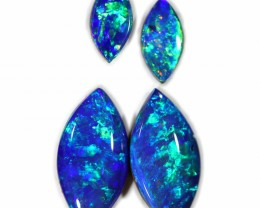 1.87 CTS GEM DOUBLET PAIRS FOR EARRINGS [SEDA1064]SAFE