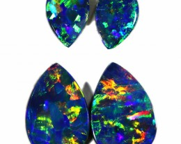 2.44 CTS GEM DOUBLET PAIRS FOR EARRINGS [SEDA1069]SAFE