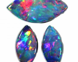 4.16 CTS GEM DOUBLET SET FOR EARRING AND PENDANT [SEDA1081]SAFE