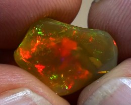 4.45 ct Ethiopian Gem Color Carved Free Form Welo Opal *