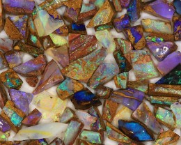 450ct Small Pieces Natural Boulder Pipe Opal Rough Parcel [BRP-022]