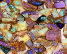450ct Small Pieces Natural Boulder Pipe Opal Rough Parcel [BRP-023]