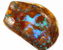 132CTS  Boulder Opal Rough/Rub Pre-Shaped --  S20