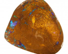 73CTS  Boulder Opal Rough/Rub Pre-Shaped --  S21