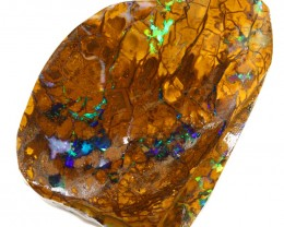 166CTS  Boulder Opal Rough/Rub Pre-Shaped --  S26