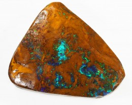 102CTS  Boulder Opal Rough/Rub Pre-Shaped --  S31