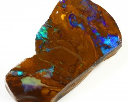 129CTS  Boulder Opal Rough/Rub Pre-Shaped --  S32