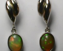 Ethiopian Solid Crystal Opal Earrings