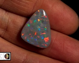 SALE PRICE 10.10 carat Lightning Ridge semi black Red fire opal