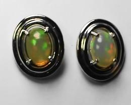 6.5 ct  Ethiopian Solid Crystal Opal Earrings