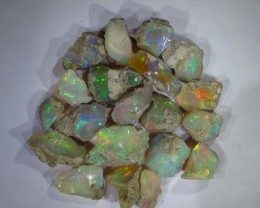Brilliant! Ethiopian Welo Rough Opal  collection AAA 20pcs 170TCW #610