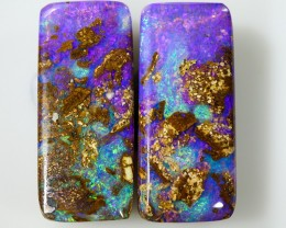 14.60 cts Pair Boulder Pipe Crystal Opal P5