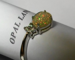 11.85ct Stunning 925 Silver Bright Multi Color Welo Ring