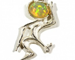 Pendant Silver 925 with Wello Opal Tot. Cts. 19.0    CV17