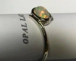 10.20 ct Stunning 925 Silver Bright Multi Color Welo Ring