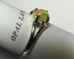 13.40 ct Stunning 925 Silver Bright Multi Color Welo Ring