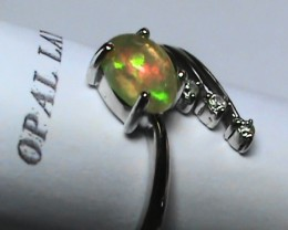 13.65 ct Stunning 925 Silver Bright Multi Color Welo Ring