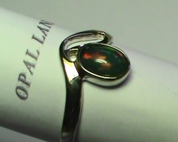 9.20 ct Stunning 925 Silver Bright Multi Color Welo Ring