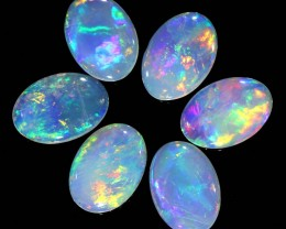 1.58CTS 6pcs COOBER PEDY SOLID OPAL  GREAT COLOUR PLAY --S86