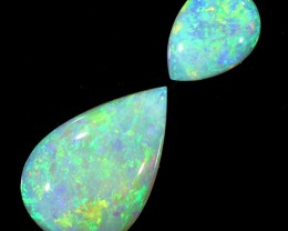 1.75CTS 2pcs COOBER PEDY SOLID OPAL  GREAT COLOUR PLAY --S91