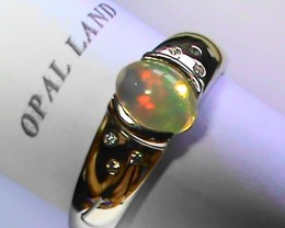 28.05 ct Stunning 925 Silver Bright Multi Color Welo Ring