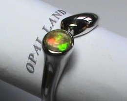 19.20 ct Stunning 925 Silver Bright Multi Color Welo Ring