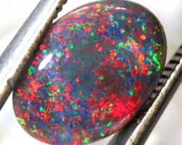 N2 -2.28  CTS QUALITY RED ON  BLACK OPAL POLISHED STONE INV-JAN1